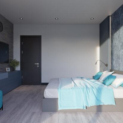 Дизайн двухкомнатной квартиры в новостройке спальня заказать