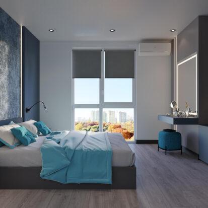 Дизайн двухкомнатной квартиры в новостройке спальня цена