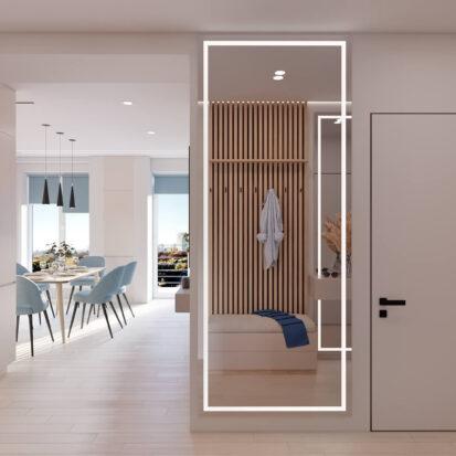 Дизайн интерьера квартиры в comfort city