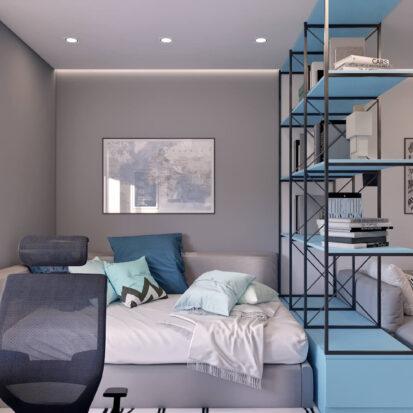 Дизайн квартиры в comfort city детская комната