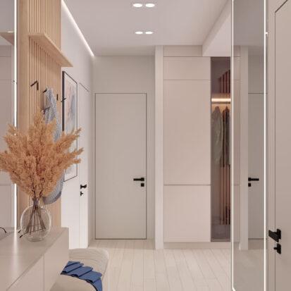 Дизайн квартиры в comfort city интерьер прихожей