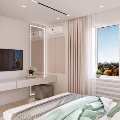 Дизайн квартиры в comfort city интерьер спальни
