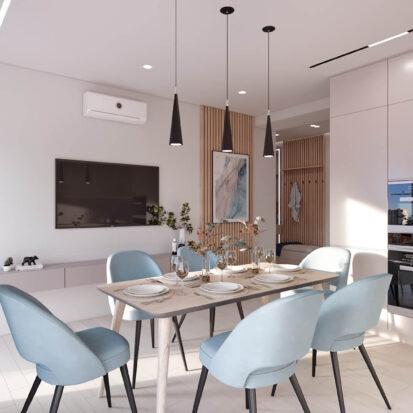 Дизайн квартиры в comfort city кухня