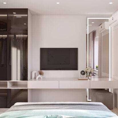 Дизайн квартиры в comfort city проект спальни