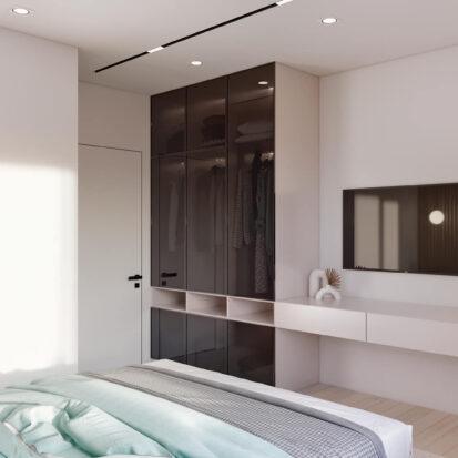 Дизайн квартиры в comfort city спальня заказать