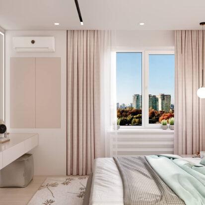Дизайн квартиры в comfort city спальня цена