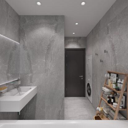 Дизайн-проект двухкомнатной квартиры в новостройке ванная