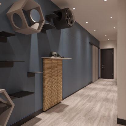 Дизайн-проект двухкомнатной квартиры в новостройке прихожая