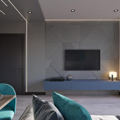 Дизайн-проект двухкомнатной квартиры в новостройке