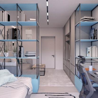 Дизайн проект квартиры в comfort city детская