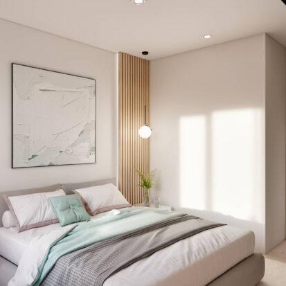 Дизайн проект квартиры в comfort city спальня