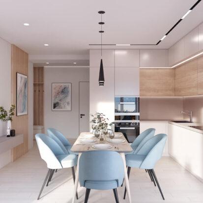 Дизайн-проект квартиры в comfort city