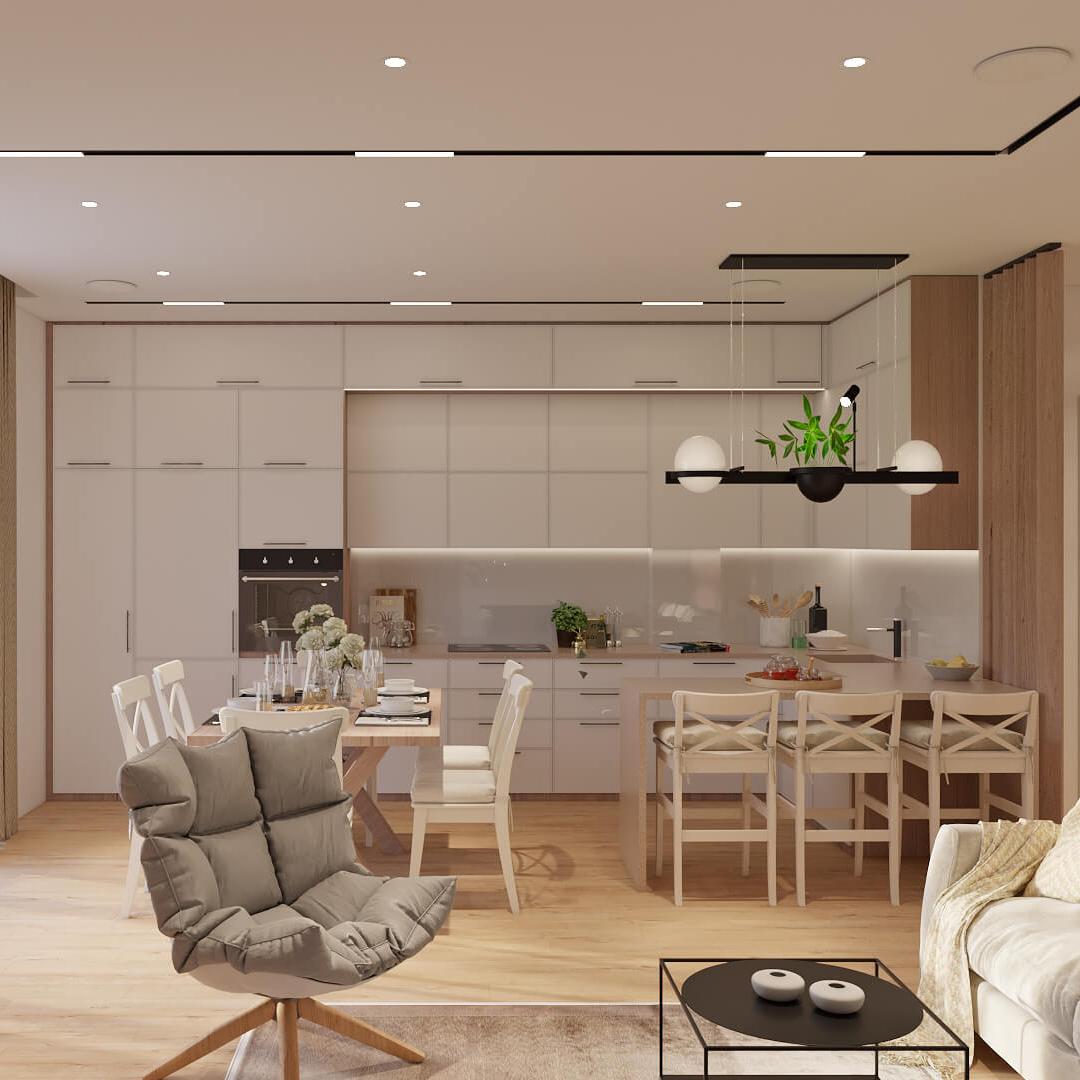Дизайн таунхауса Ирпень кухня студия заказать