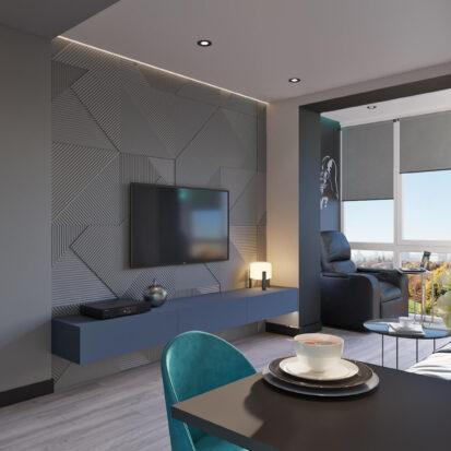 Заказать дизайн двухкомнатной квартиры в новостройке