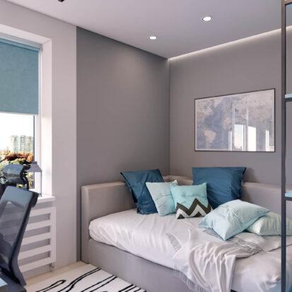 Элитный дизайн квартиры в comfort city детская