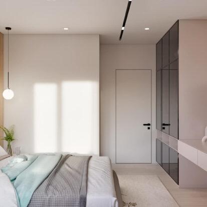 Элитный дизайн квартиры в comfort city спальня
